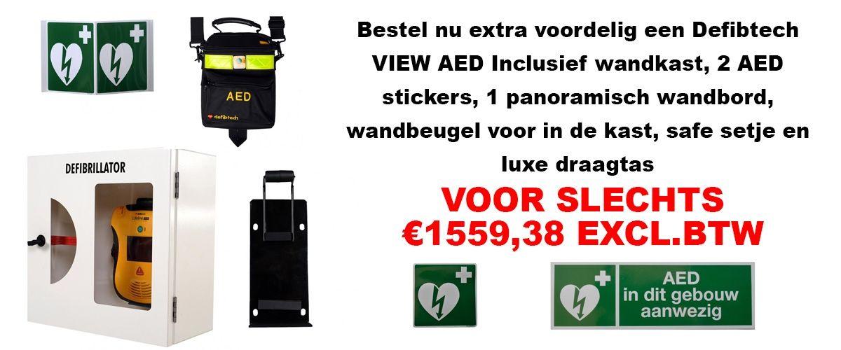 DEFIBTECH AED VIEW ACTIEPAKKET FRAMO