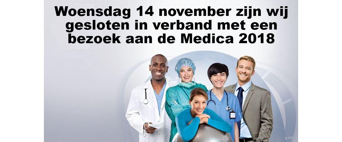Woensdag 14 november zijn wij gesloten in verband met een bezoek aan de Medica 2018